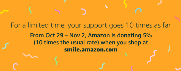 Support us on Amazon Smile!
